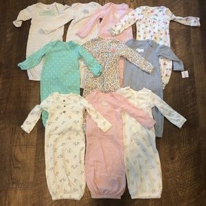 Sleep Gown Layettes - Set of 10 size 0-3 Months